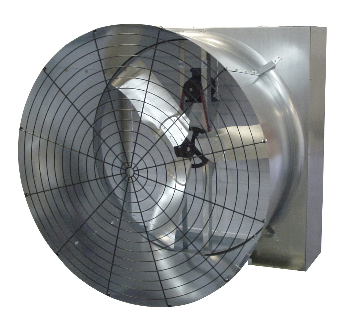 High Volume Low Speed Fan : Abbi aerotech grower fan poultry dairy hvls